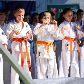 Pokaz ARS Klub Kyokushinkai podczas Powiatowego Dnia Dziecka na Mogielicy.