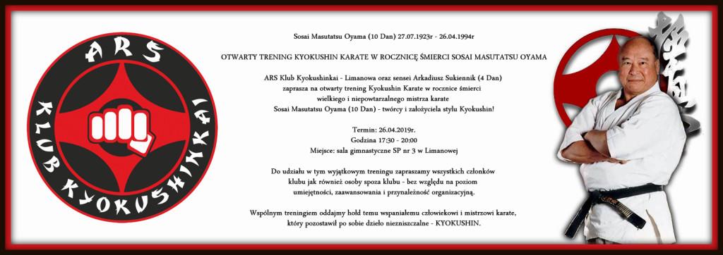 Otwarty trening w rocznicę śmierci Sosai Masutatsu Oyama