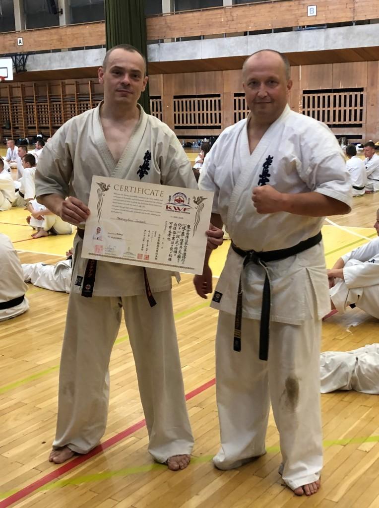 46 Wschodnioeuropejski Obóz Karate Kyokushin - Arek i Przemek po egzaminie