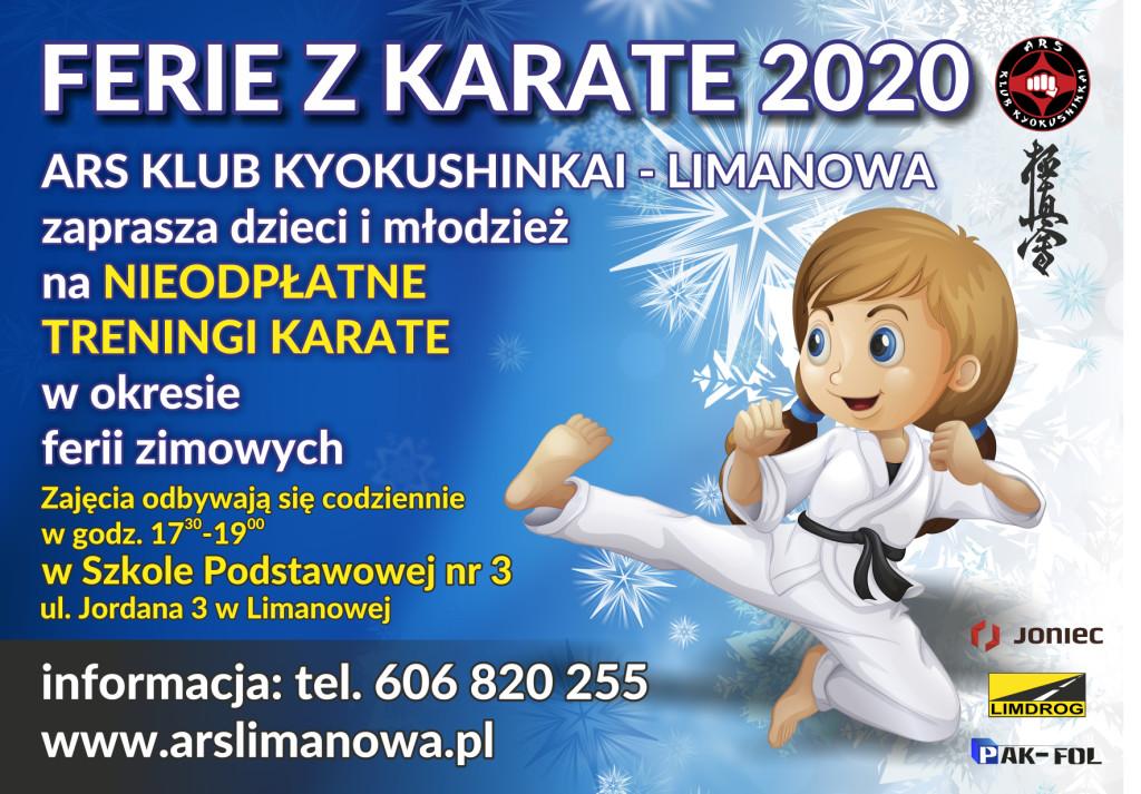 """JONIEC Team zaprasza limanowskie dzieci i młodzież na """"Ferie z karate"""""""