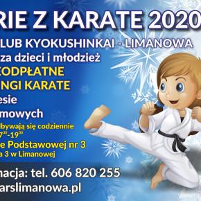 """ARS Klub Kyokushinkai - JONIEC Team zaprasza limanowskie dzieci i młodzież na """"Ferie z karate"""""""