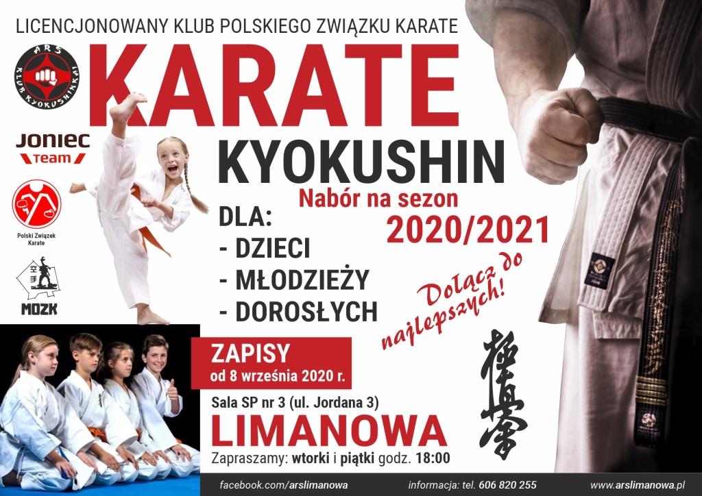 Nabór do sekcji Karate Kyokushin na sezon 2020-2021 - Limanowa
